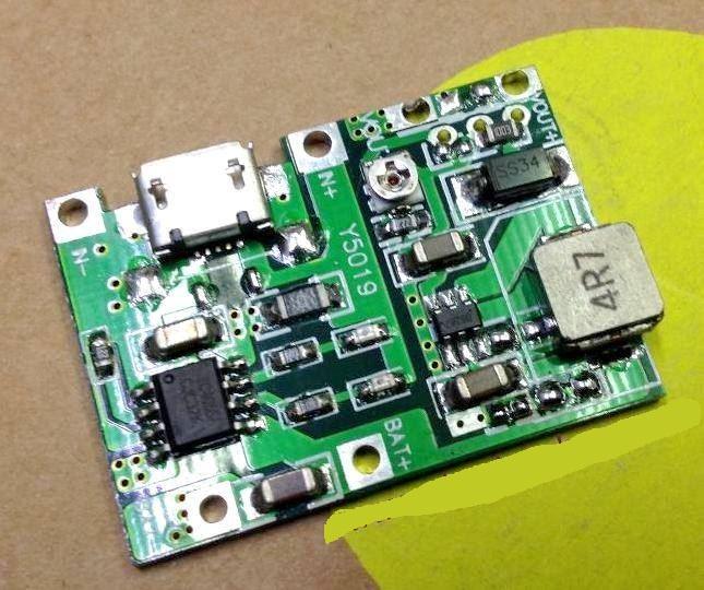 Mạch sạc pin 18650 kết hợp tăng áp 2A điều chỉnh được