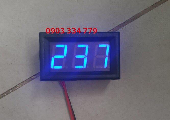Đồng hồ đo vôn AC vol Xanh Dương