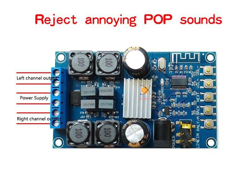 Mạch khuếch đại 50Wx2 tích hợp Bluetooth - có hộp mica