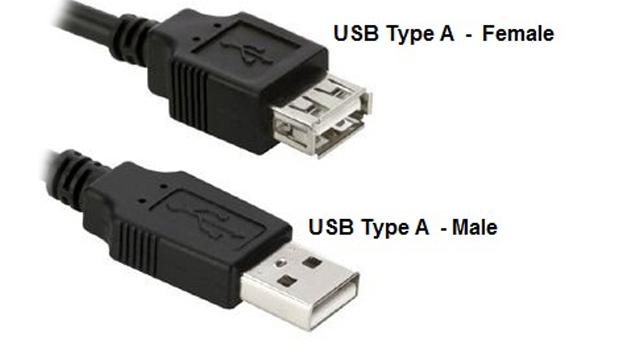 Cáp USB type A 1 đầu đực 1 đầu cái 1,8m