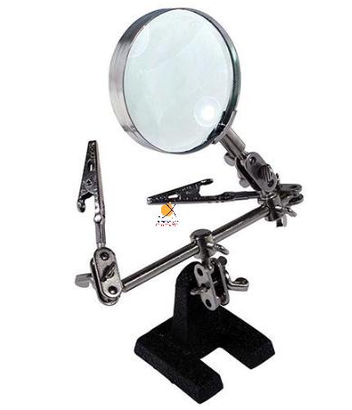 Đế gác mỏ hàn có kính lúp