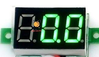 Đồng Hồ Đo Vôn 3.5-30V 0.36inch xanh lá