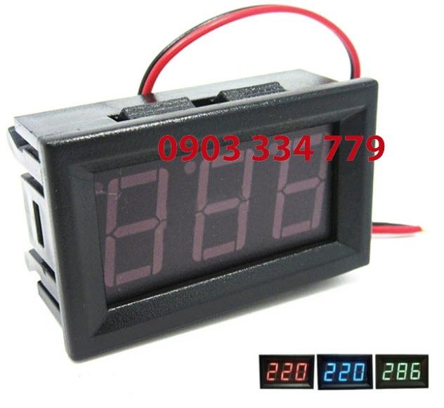Đồng hồ đo vôn DC - 4.5VDC 30VDC đỏ