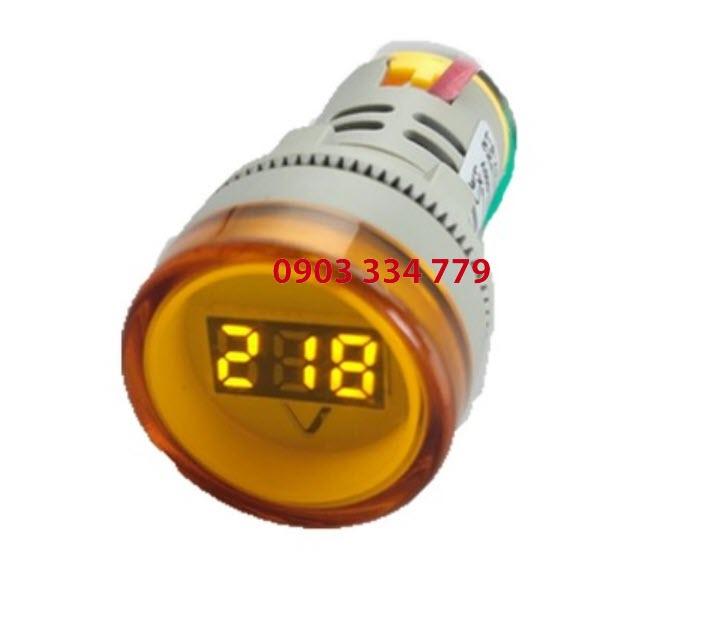 Đồng hồ đo vôn AC 70VAC - 500V Vàng - tròn