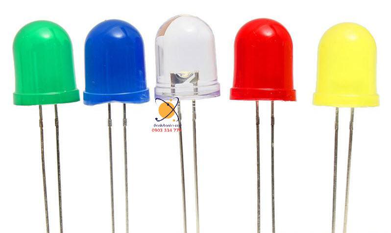 LED 10 mm sáng xanh dương