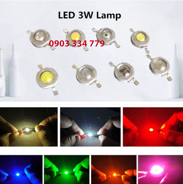 LED UV - Màu Tím 3W