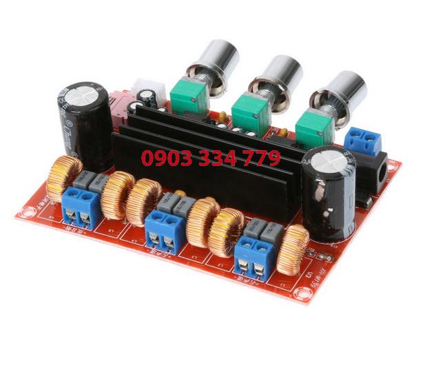 Mạch khuếch đại công suất âm thanh 2.1 50Wx2 +100W
