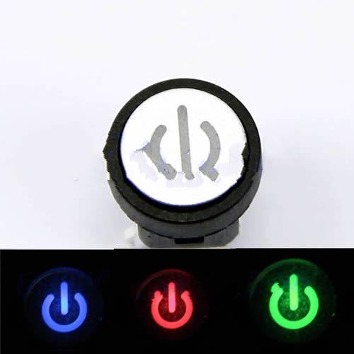 Nút nhấn nguồn có đèn - xanh dương