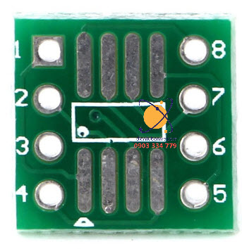 Socket chuyển SMD 8 pin sang through-hole
